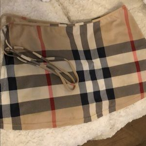 Authentic Burberry swim cover up tie side skirt